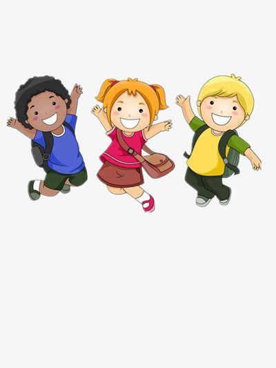 أطفال المدارس الإثارة سعيد ابتسم Png وملف Psd للتحميل مجانا