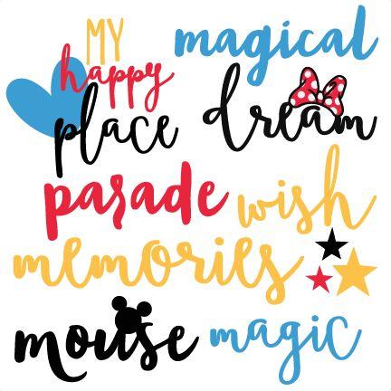 Magical Words Set Disney Title SVG scrapbook cut file cute clipart