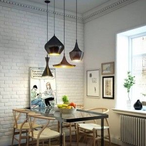 Dining Room Lighting Trends With Multiple Pendant Lighting Over