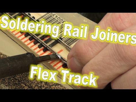 How To Solder Track Feeder Wires Ho Scale Model Railroad Youtube Model Trains Model Railroad Soldering