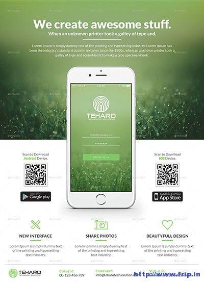 60 Best Mobile App Promotion Flyer Templates 2020