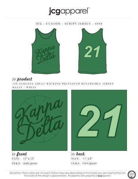 bf1a3c82b Kappa Delta Script Jersey Shirt