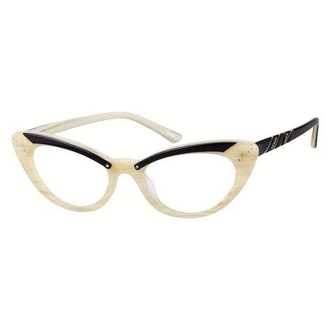 5dd82c05a2 Zenni Womens Cat-Eye Prescription Eyeglasses Cream Plastic 665932