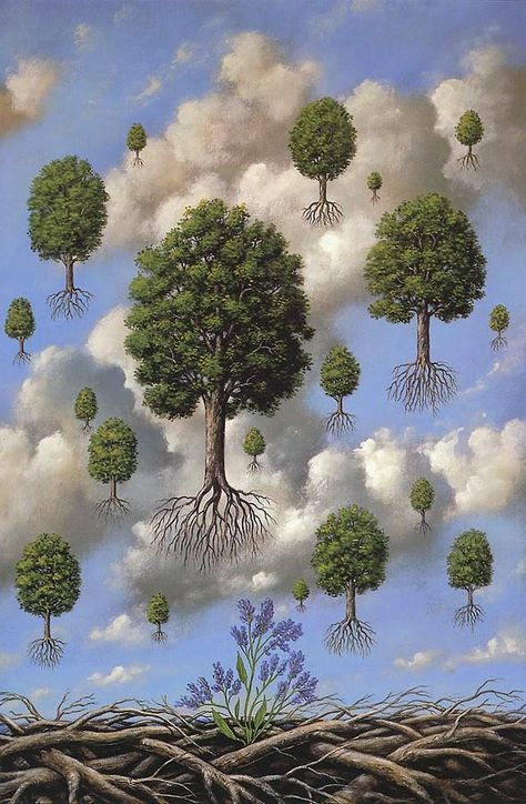 Rene Magritte / Rafal Olbinski immigrated to the US in where he soon established himself as a prominent painter, illustrator and designer. Olbinski's work is very similar to the work of the famous Belgian surrealist Rene Magritte Rene Magritte Kunst, Illustration Art, Illustrations, Wassily Kandinsky, Art Plastique, Surreal Art, Oeuvre D'art, Pop Art, Contemporary Art
