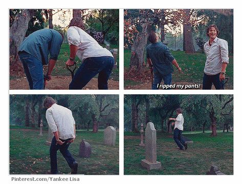 The absolute BEST thing about this part of the gag reel is Jensen laughing SO hard in the background!