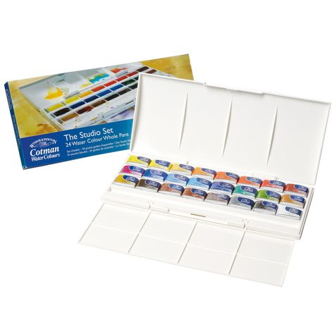 The Cotman Studio 24 Whole Pan Set Studio 24 Colours Paint Set