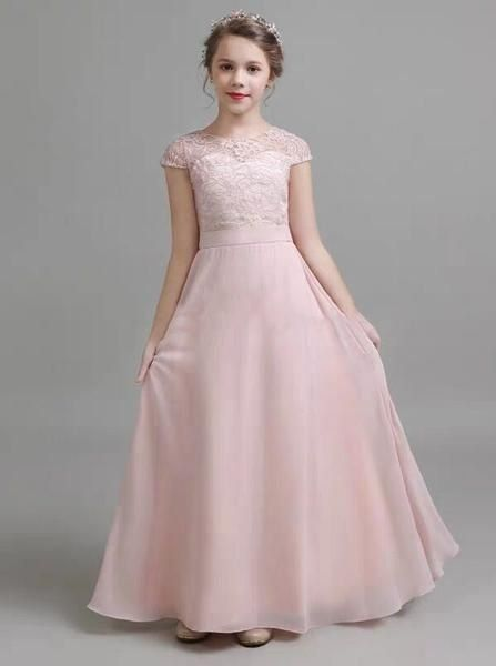 Pink Formal Junior Bridesmaid Dresses
