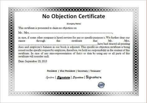 Format Of Non Objection Certificate no objection letter format - no objection format