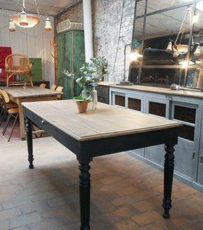 Ancienne Table En Bois Par Le Marchand D Oublis Chaises De Salle A Manger Design Table Bois Table Salle A Manger