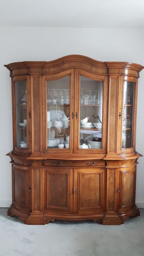 xxx Klassische Selva Vitrine Venezia Olivenholz Antiquität Antik