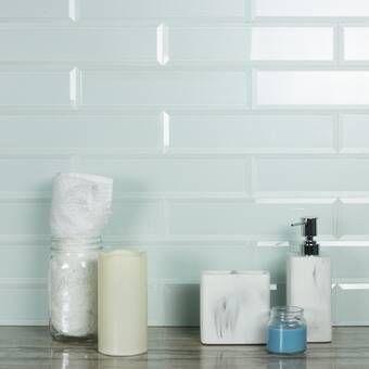Premium 2 X 6 Glass Subway Tile White Glass Tile Glass Subway Tile Wall Tiles