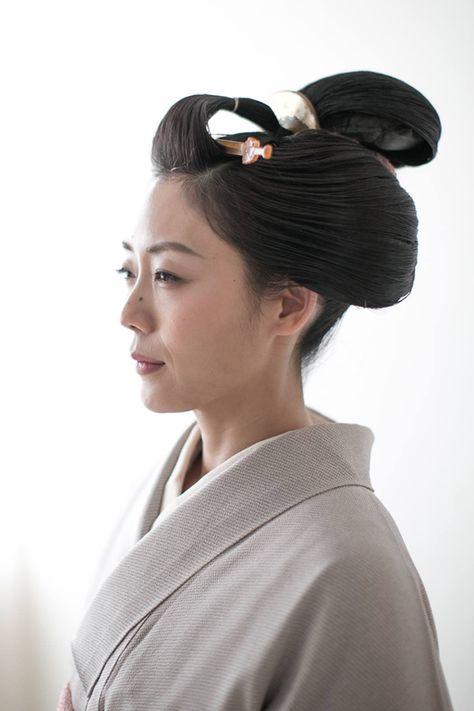 丸髷 結髪 丸髷 地毛結い日本髪 鬢付け油 縁 Enishi 美髪