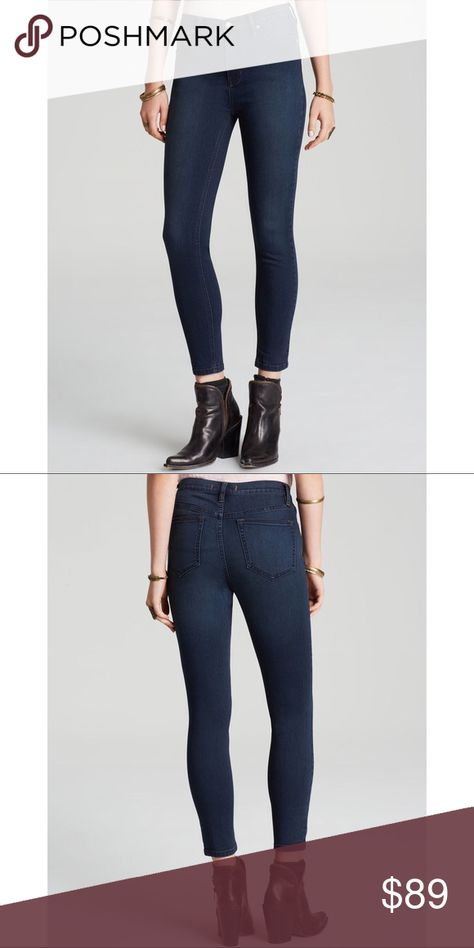 9f042b7abd (Free People) Ankle Crop High Waisted Jeans Dark wash. Excellent used  condition. Just too big on me. (ask questions   make offers) Free People  Jeans Ankle   ...