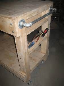 easy garage wood shop work table plans 2x4 fast free build make your