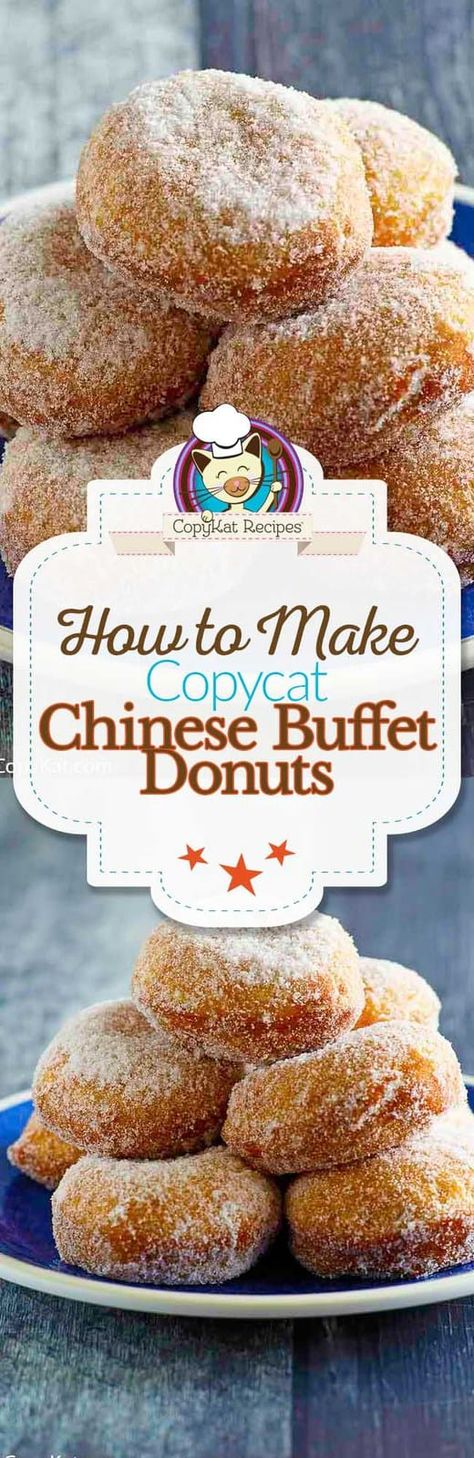 Love the sugar donuts at a Chinese buffet? Learn how to make them at home with only 3 simple ingredients. Save this easy Chinese donut recipe to make a tasty dessert or treat. #chinesefood #donut #doughnut #dessertideas #quickandeasy #asianfood #asianrecipes