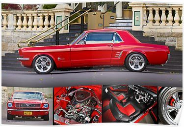 Keith Keily's 1966 Ford Mustang Coupe - Poster Poster