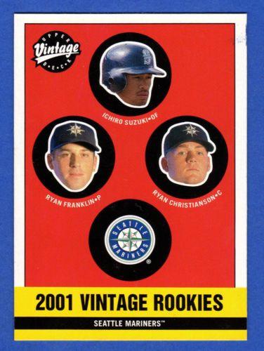 2001 Upper Deck Vintage Ichiro Suzuki Rookie Card 185