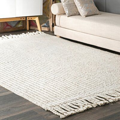 Gracie Oaks Sinclair Handwoven Flatweave Wool Off White Area Rug Rug Size Rectangle 5 X 8 Rugs Rug Texture White Area Rug