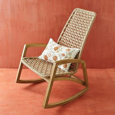 0ur Rope Rocking Chair Is Destined To Be The Chair That S Never Empty It Starts With A Rust Resista Rocking Chair Nursery Rocking Chair Outdoor Rocking Chairs