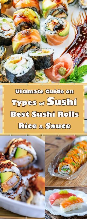 Different Types Of Sushi And Best Sushi Rolls By Howdaily Com Best Sushi Rolls Sushi Recipes Homemade Cooked Sushi Recipes