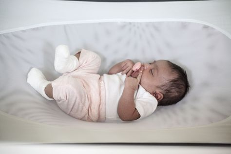 Pebble Grey Baby Safety Crescent Womb Safety Bed