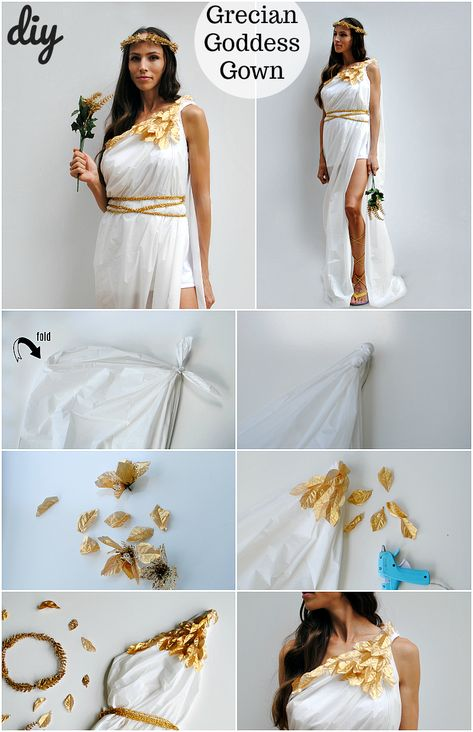 Trash To Couture: A Dollar Tree Halloween Series: Greek Goddess Costume