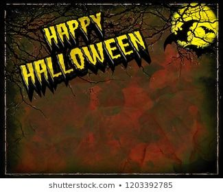 3d Halloween Background 2020 A creepy grungy Happy Halloween card design in 3D illustration