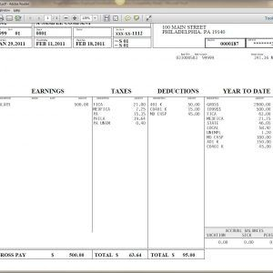 Blank Payroll Check Stub Template a part of under Invoice
