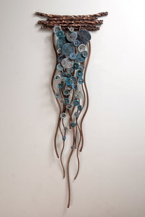 Flow In Blues By Hannie Goldgewicht Mixed Media Wall - Flow In Blues By Hannie Goldgewicht Hand Formed Copper Wall Sculpture With Ceramic Details Each Piece Is Unique Slight Variations May Occur Wall Sculptures, Sculpture Art, Ceramic Sculptures, Sculpture Ideas, Textile Sculpture, Mixed Media Sculpture, Sculpture Projects, Ceramic Sculpture Figurative, Ceramic Wall Art