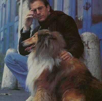 Actor Kevin Costner And His Collie Sheila Kevincostner Kevin