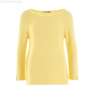 Dames geel GELE TRUI 402982 van Monari Truien & Vesten