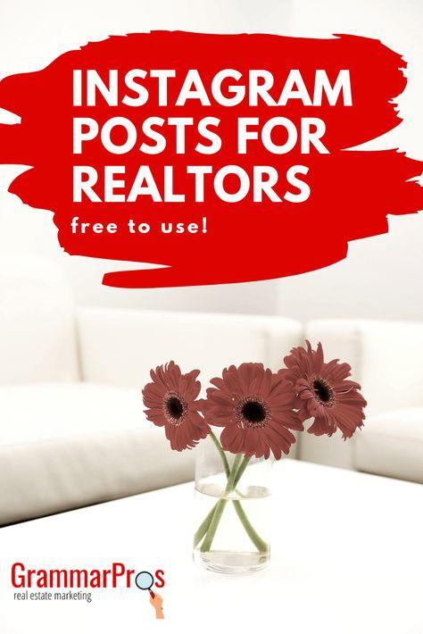 Instagram Posts for Real Estate Agents