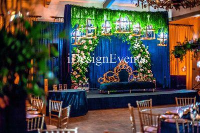 Custom Enchanted Garden Backdrop Arch Of Greenery And Flowers Wedding Ceremony Reception Backdrop With B Garden Backdrops Backdrops For Parties Amazing Gardens