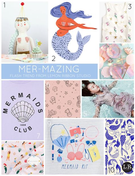 Flash Trend from Lemon Ribbon Studio: Mer-Mazing. #kids #kidstrends #nautical #trends #trends2018