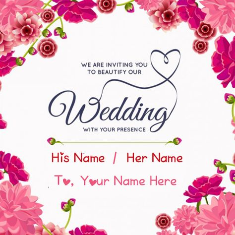 Wedding Inviting Name Greeting Card Editing Online Wedding