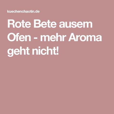 Rote Bete aus dem Ofen - mehr Aroma geht nicht! | Rote