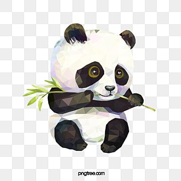 Cute Polygon Eating Bamboo Red Panda Panda Clipart Lovely Polygon Png Transparent Clipart Image And Psd File For Free Download Clipart Cute Animals Black And White Cute Clipart