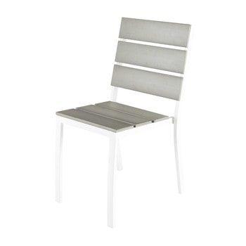 Gartenstuhl Aus Aluminium Und Plastik In Holzoptik Escale Garden Chairs Chair Outdoor Chairs
