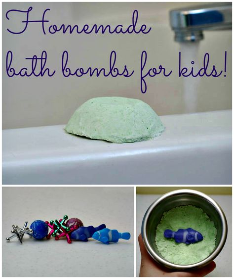 Take bath time up a notch with these fun DIY bath bombs from @Amy Lyons Vowles! -- would be a cute gift with those hooded towels and some bath toys...
