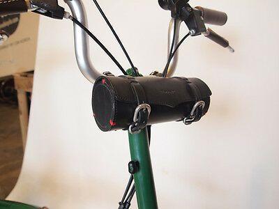 Ba sports Cylinder Bag leather Bicycle Front bag Saddle bag for Brompton