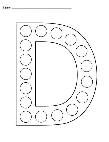 photograph relating to Printable D&d Grid titled No cost Letter D Do-A-Dot Printables - Uppercase Lowercase