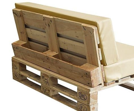 Sofá palé relaxation I – marfil - Pallet Furniture DIY Pallet Garden Furniture, Diy Pallet Sofa, Diy Pallet Projects, Wood Furniture, Garden Sofa, Furniture Ideas, Diy Sofa, Pallet Couch Outdoor, Pallet Furniture Cushions