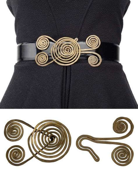 Brass wire Belt buckle by Alexander Calder. Made for Dorothy Sibley as a gift from the artist in 1937 |  Christies.