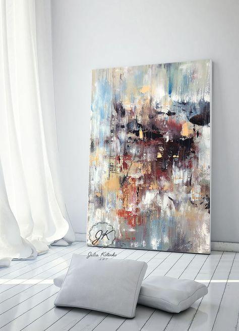 Original Abstract Oil Painting Modern Decor Textured Art Decor