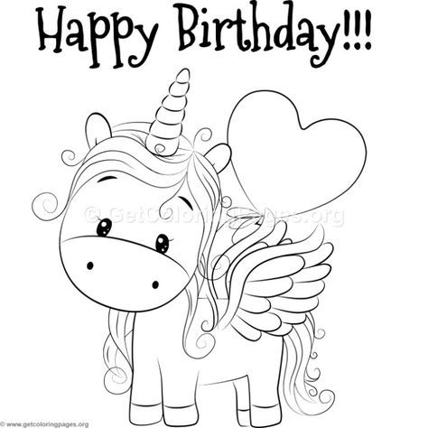 Coloring Pages Unicorn Coloring Pages Birthday Coloring Pages Happy Birthday Coloring Pages