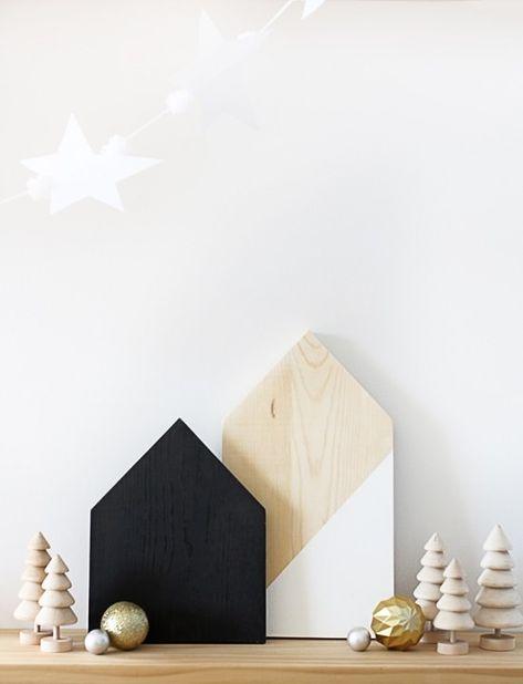 DIY Painted Plywood Houses