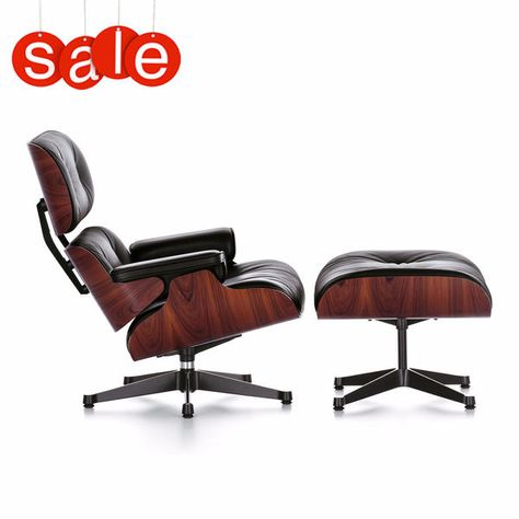 Sedie Vitra Outlet.Lounge Chair Ottoman Design Charles Ray Eames Vitra