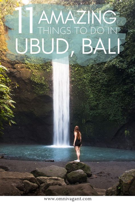 Ubud, Bali, is a place that must be on your Bali itinerary and your things to do in Bali list! From waterfalls to ricefields, there are endless amounts of things to do in Ubud, Bali! Go shopping at the Ubud Art Market, take a stroll through the Tegalalang Rice Terraces, Visit Bali's most beautiful temples and much much more. Read here 11 amazing things to do in Ubud, Bali! #Ubud #Bali