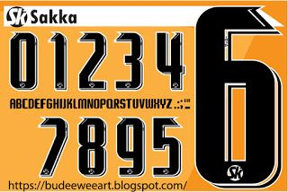 Font Number Of Football Jersey Numbers Font Jersey Font Sports Fonts