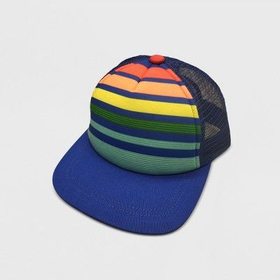 d0ca38f70 Baby Boys' Stripped Baseball Hats - Cat & Jack™ Blue 12-24M | Baby ...